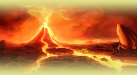 Výsledek obrázku pro pokemon krajina sopka