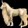 Unicorn Arabian Horse Light Gray