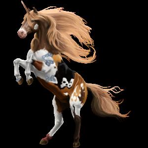 Unicorn Paint Horse Palomino Overo
