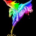Pégase Paint Horse Pie Tobiano Bai