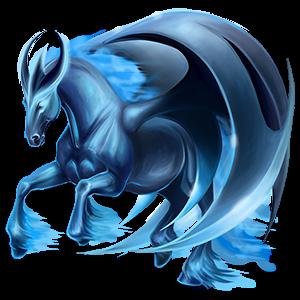 Winged unicorn Shetland Dark Bay