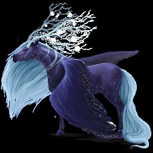 Winged unicorn Knabstrupper Bay Snowflake