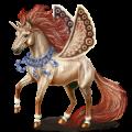 Winged unicorn Arabian Horse Dark Bay