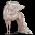Winged unicorn Arabian Horse Light Gray