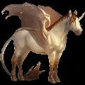 Winged unicorn Paint Horse Mouse gray Tobiano